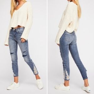 NEW Free People About A Girl Distressed Jeans